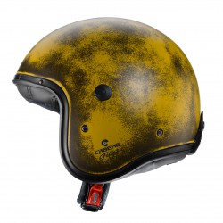 Casco jet CABERG FREERIDE YELLOW BRUSHED