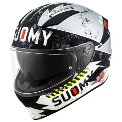 Casco SUOMY SPEEDSTAR PROPELLER negro/plata mate